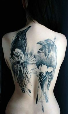 Most beautiful tattoo ever Crow