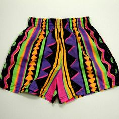 Vintage high-waisted tribal shorts