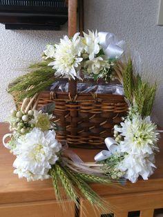 麦を使った夏用の涼しげなリース|ハンドメイド、手作り、手仕事品の通販・販売・購入ならCreema。