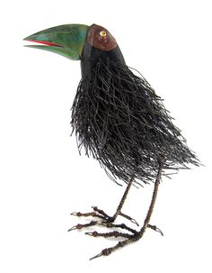 bird design - Tom Hill's Playful Sculptures of Birds Made of Wires and Wood Mixed Media Sculpture, Bird Sculpture, Animal Sculptures, Metal Sculptures, Abstract Sculpture, Bronze Sculpture, Wood Bird, Metal Birds, Found Object Art