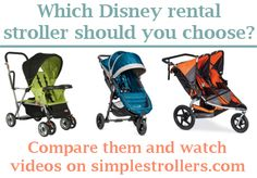 Renting a stroller for Disney World and wondering which stroller will best meet your needs? This article (with video) might help you decide!