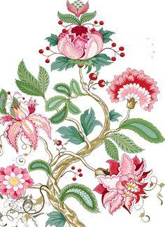 ♥embroidery designs →cross stitch pattern♥ by SoEasyPattern Motif Tropical, Tropical Art, Jacobean Embroidery, Hand Embroidery Designs, Images Lindas, Botanical Prints, Floral Prints, Indian Folk Art, Indian Patterns