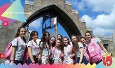El grupo #FucsiaJ16 copando #WaltDisneyWorld #EstamosEnDisney con #Enjoy15!