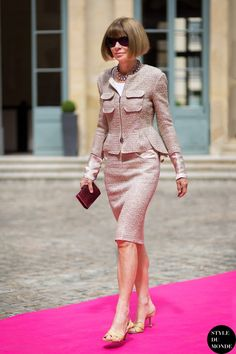 Paris Haute Couture Fall 2014 #StreetStyle: Anna Wintour