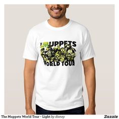 The muppets - El viaje del mundo de los Muppets - luz Camisas. Producto disponible en tienda Zazzle. Vestuario, moda. Product available in Zazzle store. Fashion wardrobe. Regalos, Gifts. Link to product: http://www.zazzle.com/el_viaje_del_mundo_de_los_muppets_luz_camisas-235730104212171786?lang=es&design.areas=[zazzle_shirt_10x12_front]&CMPN=shareicon&social=true&rf=238167879144476949 #camiseta #tshirt