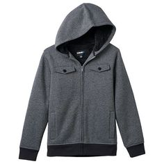 Boys 8-20 Tony Hawk Sherpa-Lined Military Hoodie
