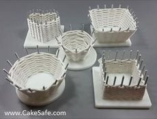 The CakeSafe Sugar Weaving Board is used by sugar artists to make baskets out of Isomalt and pulled sugar. It's also perfect for weaving with modelling chocolate, fondant, and pastillage!