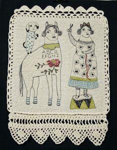 Hand crochet frame