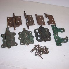 Lot of Vintage Hinges Steeple Hinged Antique Hardware Victorian Cast Iron Door #Unknown