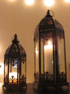 Black Moroccan Lantern Candle Holder Arabian Night $65