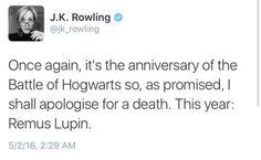 J.K. Rowling´s tweet - May 2nd -   18th Anniversary of Battle of Hogwarts
