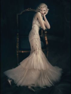 1930's Inspired Soft Pink Gown | Vintage Art Deco Dress | Gatsby | Wedding Inspiration