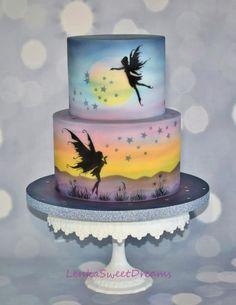 Fairy Fantasy Silhouette cake . by LenkaSweetDreams