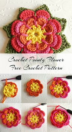 Crochet Pointy Flower - Free Crochet Pattern