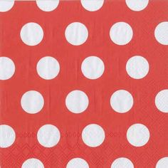 IHR Big Dots Apple Red White Polka Dot Printed 3-Ply Paper Luncheon Napkins Wholesale L449411