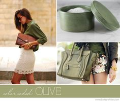 Olive, greens, are a second favorite color.  Yet a color I do not wear enough of.    Color Coded: Olive || Fligths of Fancy
