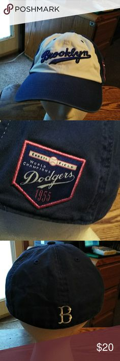 d09bd763720 Brooklyn Dodgers 1955 World Series Champs Vintage style 1955 World Series  Championship baseball hat