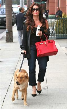 Kyle Richards with her dog, Bambi.
