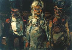 Georges Rouault, (French, 1871-1958) - The Bride (Aunt Sallys) - 1907