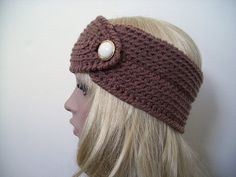 Jenn Likes Yarn - The Knit and Crochet Blog: Free Crochet Pattern: Easy and Pretty Headband with Button