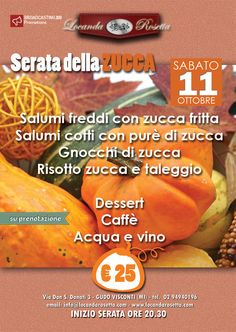 Serata della Zucca in Locanda Rosetta sabato 11 ottobre ore 20.30