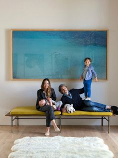 Adding a great pop of color, one of Misrach's water shots hangs in the L.A. home of fashion designer Jenni Kayne.