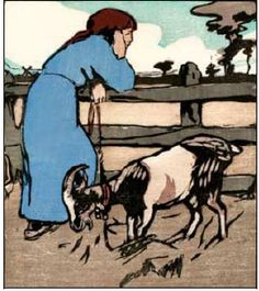 Mabel Royds - Girl with a Goat