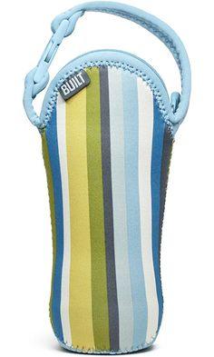 Built Bottle Buddy One Bottle Tote, In Baby Blue Stripe Best Price