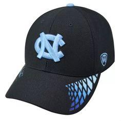 newest 325be 0801c North Carolina Tarheels UNC Black Hat Memory 1Fit Flex Cap Carolina Pride,  Carolina Blue,