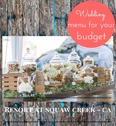 Not finding your dream wedding menu? Consider the Resort at Squaw Creek -CA venue to work with our Special Events Manager and Executive Chef that will help you create a menu that delights your guests while keeping your budget in mind.