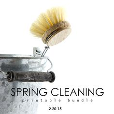 Sneak Peek of the brand new Spring Cleaning Printable Bundle! A Bowl Full of Lemons