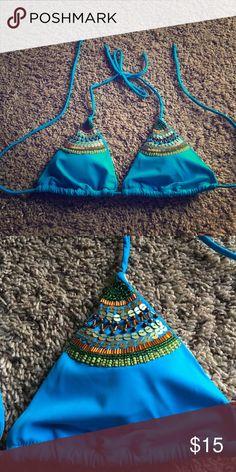 Victoria Secret bikini top. Great condition. Cute sequin design on top Victoria's Secret Swim Bikinis