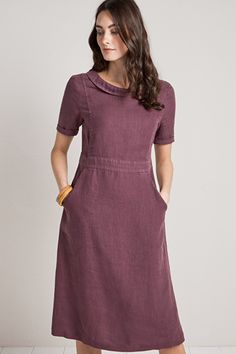 45532ed8c Coach House Dress, Linen A-line Dress - Seasalt Vestidos, Vestidos  Elegantes,