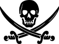 Calico Jack pirate logo by Clue - High quality tracing of the original Calico Jack pirate flag