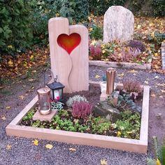 Grabstein mit Herz