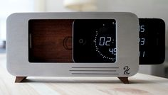 it's a dock and iphone clock in one beautiful wooden package. looking for a kickstarter jump-start.