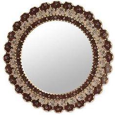 NOVICA Reverse painted glass mirror