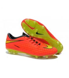 Acheter 2015 Chaussure de Football Nike Hypervenom Phantom FG Pas Cher Orange Jaune pas cher en ligne 91,00€ sur http://cramponsdefootdiscount.com