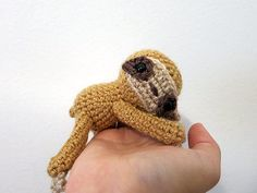 Crochet PATTERN PDF Amigurumi Sloth crochet animal by MevvSan