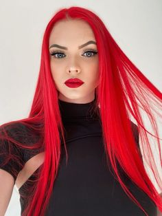 Discover recipes, home ideas, style inspiration and other ideas to try. Bright Red Hair Dye, Red Brown Hair Color, Dyed Red Hair, Cool Hair Color, Bright Red Highlights, Vibrant Red Hair, Yves Saint Laurent Bag, Red Hair Images, Unnatural Hair Color