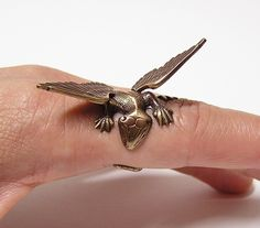 Dragon Ring dragon body wrap around finger  o by chinookhugs, $79.99