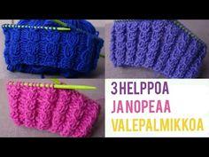 3 helppoa valepalmikkoa aloittelijoille | Valepalmikko neuleohjeet - YouTube Knitting Charts, Knitting Socks, Free Knitting, Knitted Hats, Knitting Patterns, Headband Pattern, Beanie Pattern, Knit Or Crochet, Crochet Hats