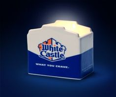 Now you can enjoy that unique smell of White Castle all of the time with our 4 oz. White Castle Slider Scented Candle.
