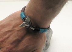 FREE SHIPPING Men's leather bracelet Black leather by eliziatelye, $25.00