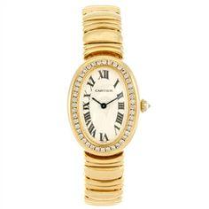 18k gold quartz Cartier Baignoire bracelet watch. Estimate: £2000-3000