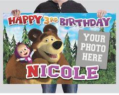 BANNER - Masha y el oso cumpleaños Banner
