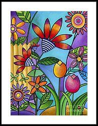 Wild Flowers Framed Print by Carla Bank
