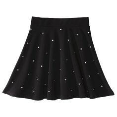 Xhilaration® Junior's Embellished Full Skirt - Black