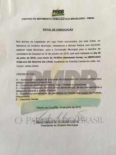 RN POLITICA EM DIA: EDITAL DE CONVOCAÇÃO DE CONVENÇÃO: PARTIDO DO MOVI...