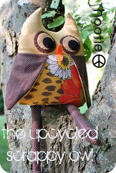The upcycled scrappy owl
